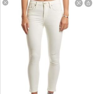 Citizens of Humanity Cream Rocket skinny jeans 27